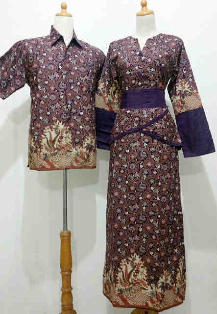Baju Batik Gamis Modern Model Muslim Untuk